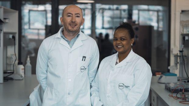 Dr Peter Durcan and Benedicta Mahlangu